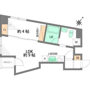 1LDK Mansion in Takadanobaba - Shinjuku-ku Floorplan