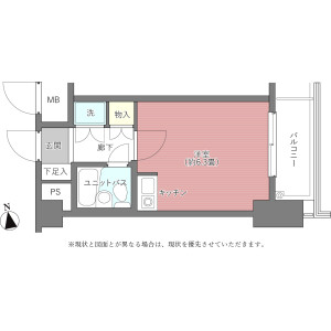 1R {building type} in Higashiueno - Taito-ku Floorplan