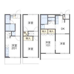 2DK Apartment in Konakadaicho - Chiba-shi Inage-ku Floorplan