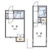 1K Apartment to Rent in Yokohama-shi Isogo-ku Floorplan