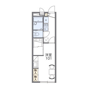 1K Apartment in Nanakuma - Fukuoka-shi Jonan-ku Floorplan