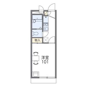 1K Apartment in Imagumano minamihiyoshicho - Kyoto-shi Higashiyama-ku Floorplan