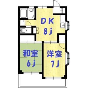 2DK Mansion in Sakado - Kawasaki-shi Takatsu-ku Floorplan