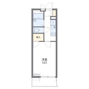 1K Mansion in Nakanarusawacho - Hitachi-shi Floorplan