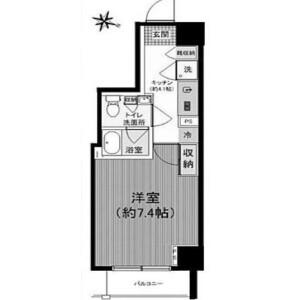 1K {building type} in Nishikamata - Ota-ku Floorplan
