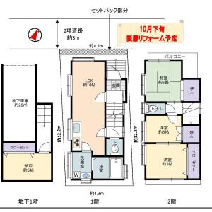3SLDK {building type} in Minamimagome - Ota-ku Floorplan