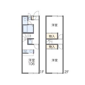 2DK Apartment in Shiraitodai - Fuchu-shi Floorplan