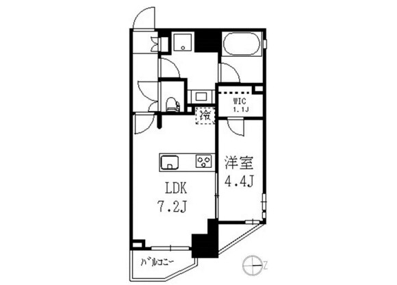 1LDK Apartment to Rent in Nakano-ku Floorplan
