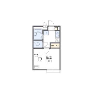 1K 아파트 in Okamura - Yokohama-shi Isogo-ku Floorplan