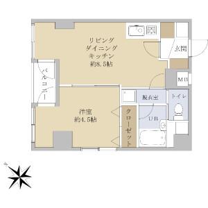 1LDK {building type} in Iwamotocho - Chiyoda-ku Floorplan