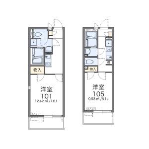 1K Apartment in Minamicho - Kawaguchi-shi Floorplan