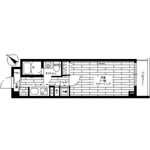 1K Mansion in Higashitamagawa - Setagaya-ku Floorplan