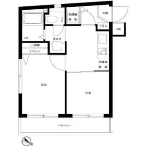 2K Mansion in Kamiuma - Setagaya-ku Floorplan