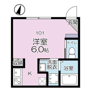 1R Apartment in Minamimizumoto - Katsushika-ku Floorplan