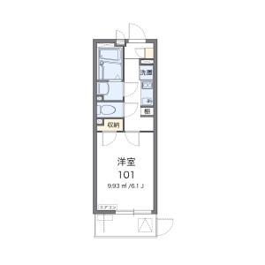 1K Mansion in Funahashicho - Osaka-shi Tennoji-ku Floorplan