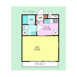 1K {building type} in Shakujiimachi - Nerima-ku Floorplan