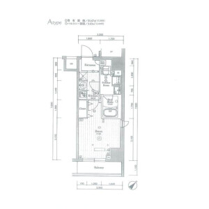 1K Mansion in Etchujima - Koto-ku Floorplan