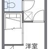 在横浜市港北区内租赁1K 公寓 的 楼层布局