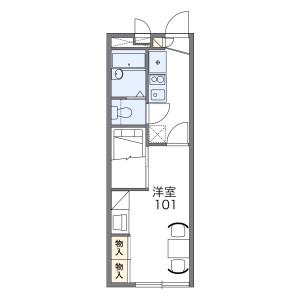 横浜市港北区小机町-1K公寓 楼层布局
