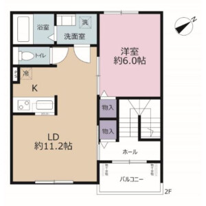 1LDK Apartment in Horie - Urayasu-shi Floorplan