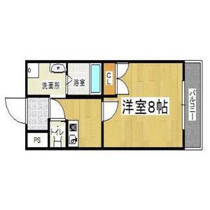 1K Mansion in Shimmachi - Higashiosaka-shi Floorplan