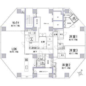 3SLDK {building type} in Arakicho - Shinjuku-ku Floorplan