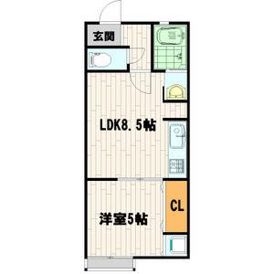 1LDK Apartment in Kishibe minami - Suita-shi Floorplan