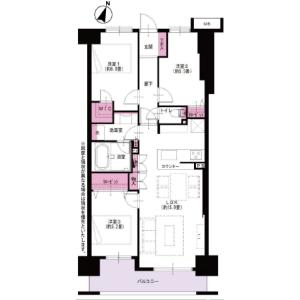 横浜市西区中央-3LDK{building type} 楼层布局