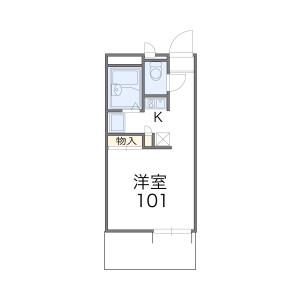 豊中市豊南町西-1K公寓大厦 楼层布局