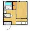1DK Apartment to Rent in Osaka-shi Abeno-ku Floorplan