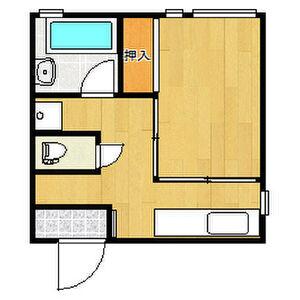 1DK Mansion in Maruyamadori - Osaka-shi Abeno-ku Floorplan