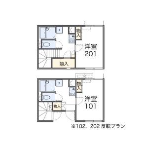 1K Apartment in Higashikasai - Edogawa-ku Floorplan