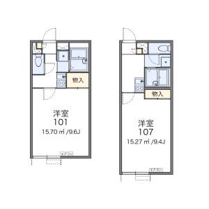 1K Apartment in Tsugiya - Amagasaki-shi Floorplan