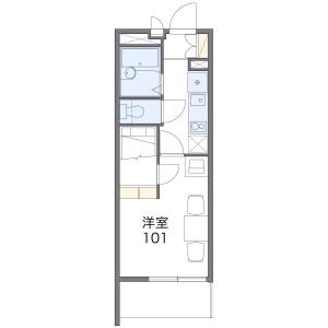 1K Apartment in Hasamacho - Funabashi-shi Floorplan