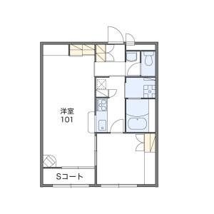 1LDK Apartment in Takahagi - Hidaka-shi Floorplan