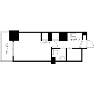 1K Mansion in Nihombashihoncho - Chuo-ku Floorplan