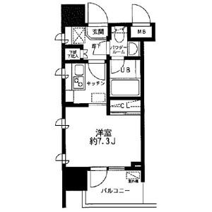 1R Mansion in Omorihigashi - Ota-ku Floorplan