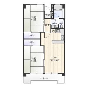 2LDK Mansion in Ojima - Koto-ku Floorplan