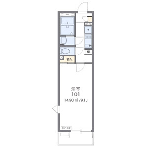 1K Mansion in Nisshincho - Saitama-shi Kita-ku Floorplan