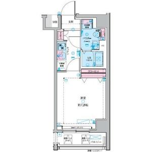 1K Mansion in Kaigan(3-chome) - Minato-ku Floorplan