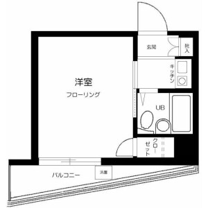 1K Mansion in Kamiikedai - Ota-ku Floorplan