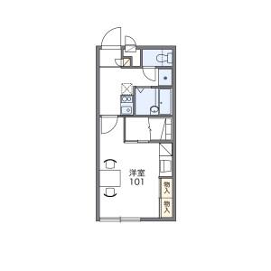 1K Apartment in Hatorino - Kisarazu-shi Floorplan