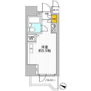 1R Mansion in Maruyamacho - Shibuya-ku Floorplan