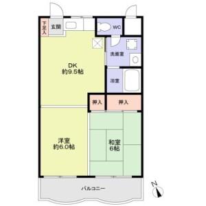 2DK 맨션 in Iizuka - Kawaguchi-shi Floorplan