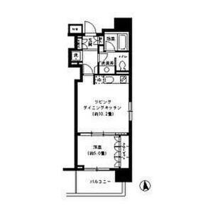 1LDK Mansion in Shiba(1-3-chome) - Minato-ku Floorplan