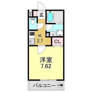 1K Apartment in Hiranoichimachi - Osaka-shi Hirano-ku Floorplan
