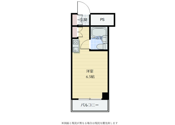 1K Apartment to Buy in Yokohama-shi Hodogaya-ku Floorplan