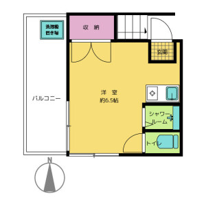 1R Apartment in Hakusan(2-5-chome) - Bunkyo-ku Floorplan