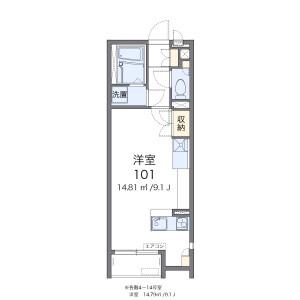 1R 아파트 in Iko - Adachi-ku Floorplan