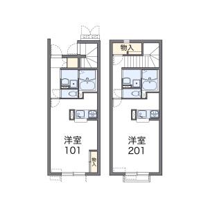 1K Apartment in Chikushimachi - Yanagawa-shi Floorplan